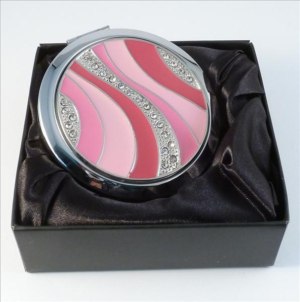 Pink Swirl Compact - Round