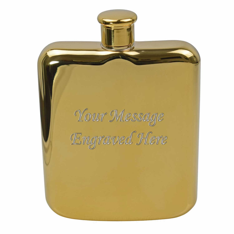 6oz High Quality Gold Hip Flask