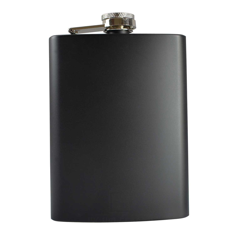 8oz Black Hip Flask
