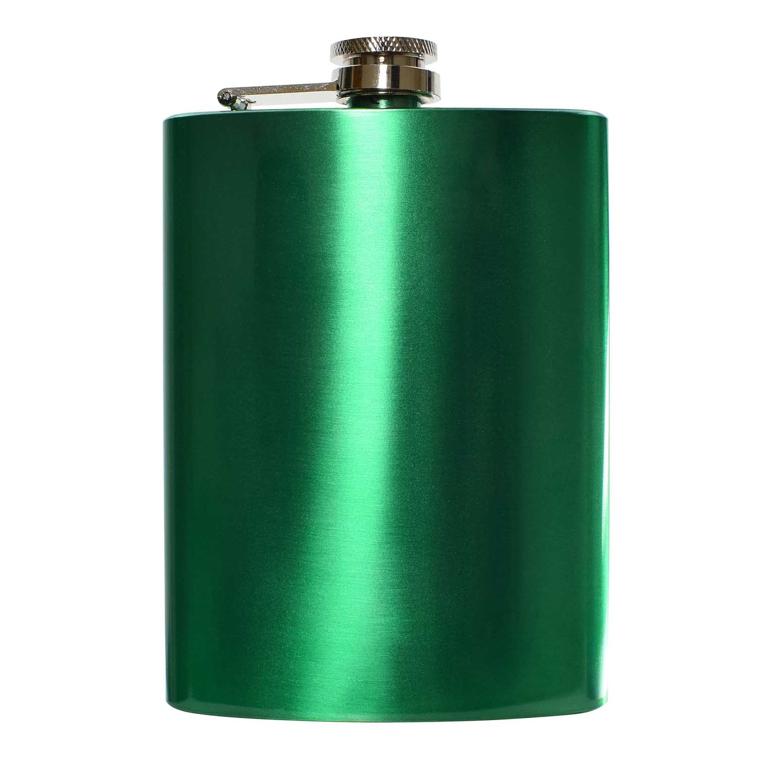 8oz Green Hip Flask