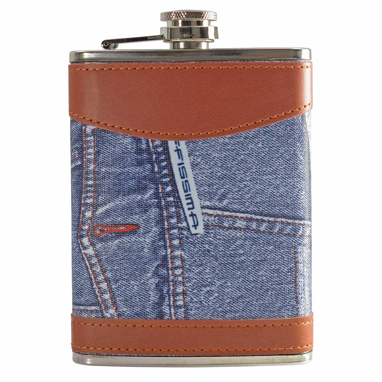 8oz Jeans Hip Flask