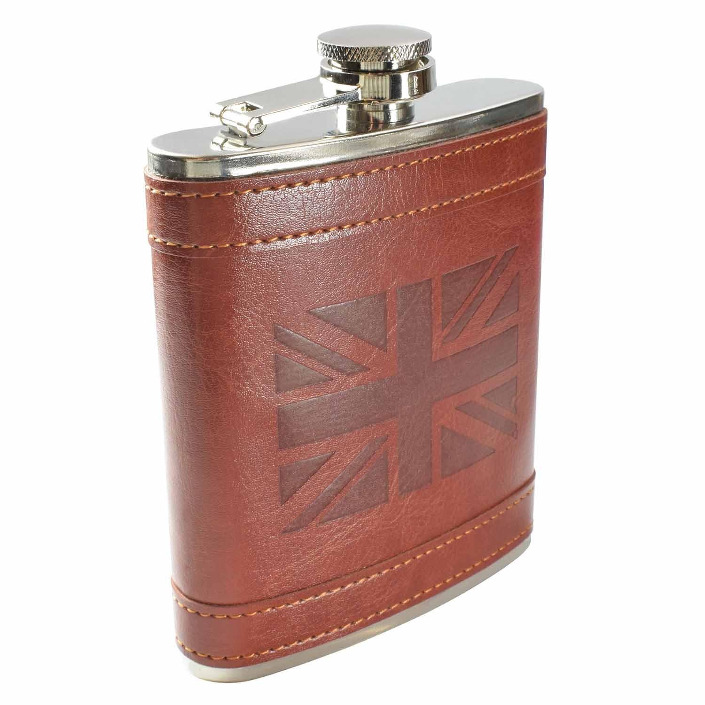8oz UK Flag Hip Flask