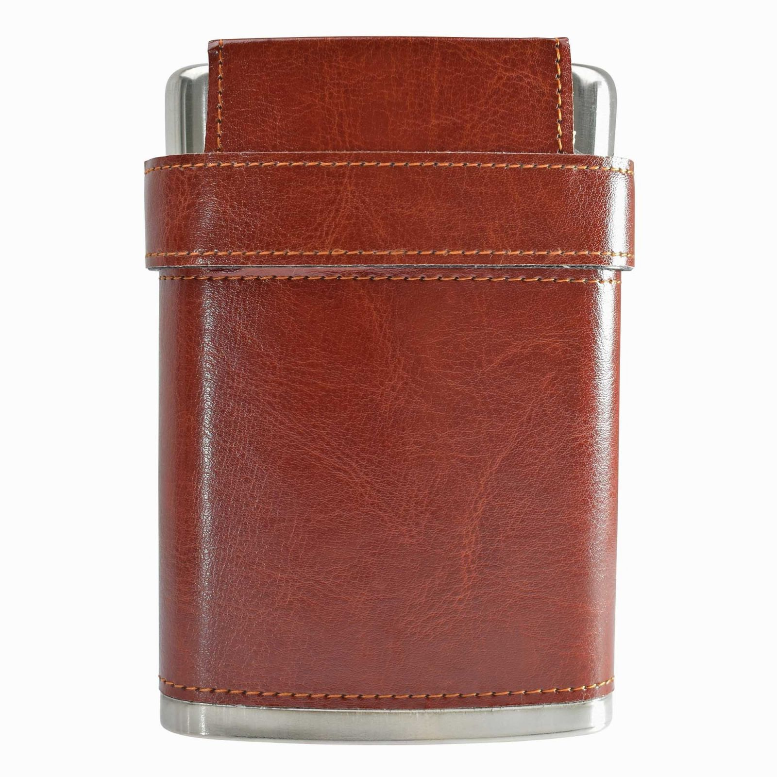 8oz Leather Case Hip Flask
