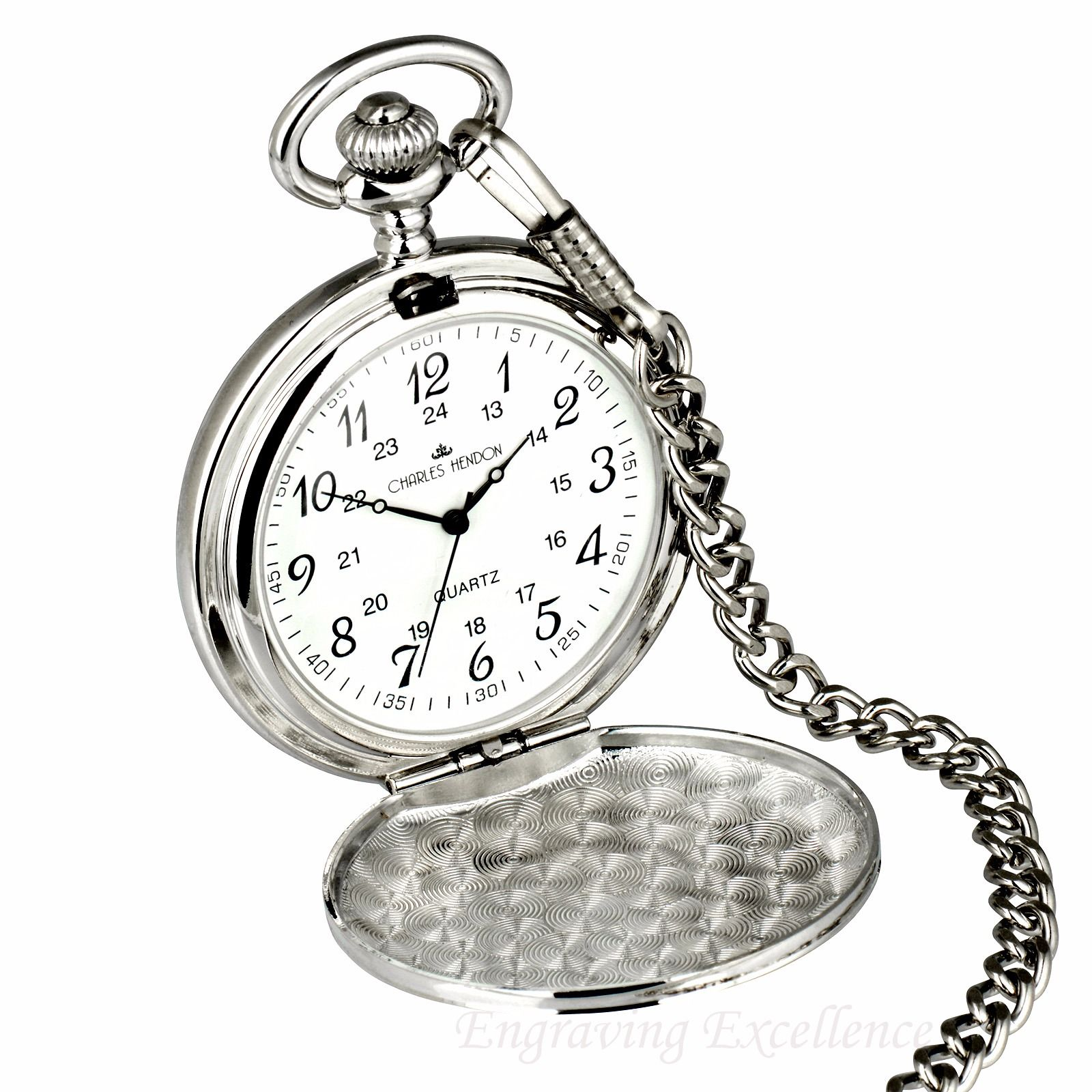 Silver Pocket Watch in Gift Box