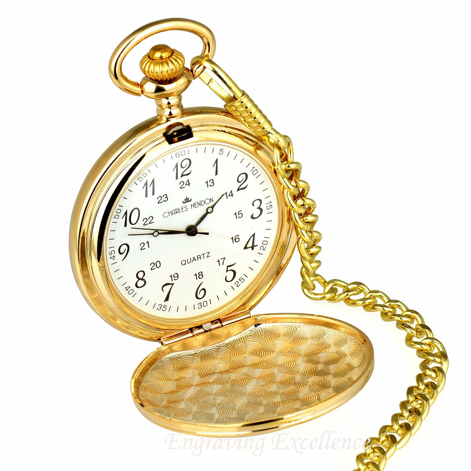 Gold Pocket Watch in Gift Box