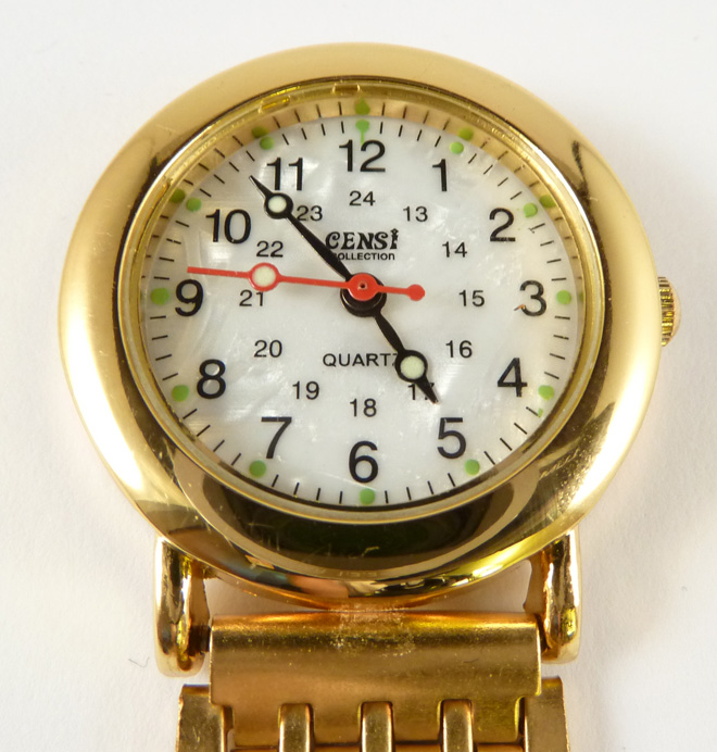 Nurses Fob Watch - Gold