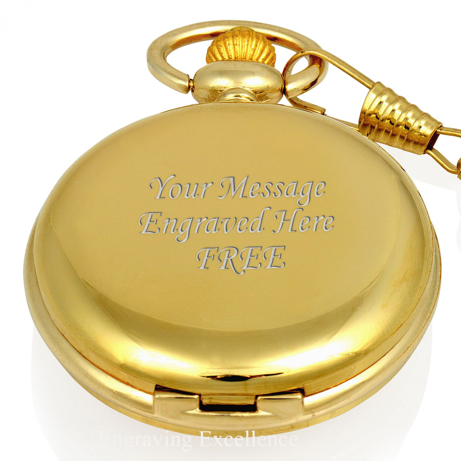 Gold Roman Face Pocket Watch in Gift Box