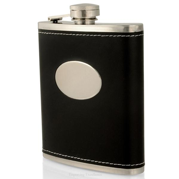 Black Oval Hip Flask