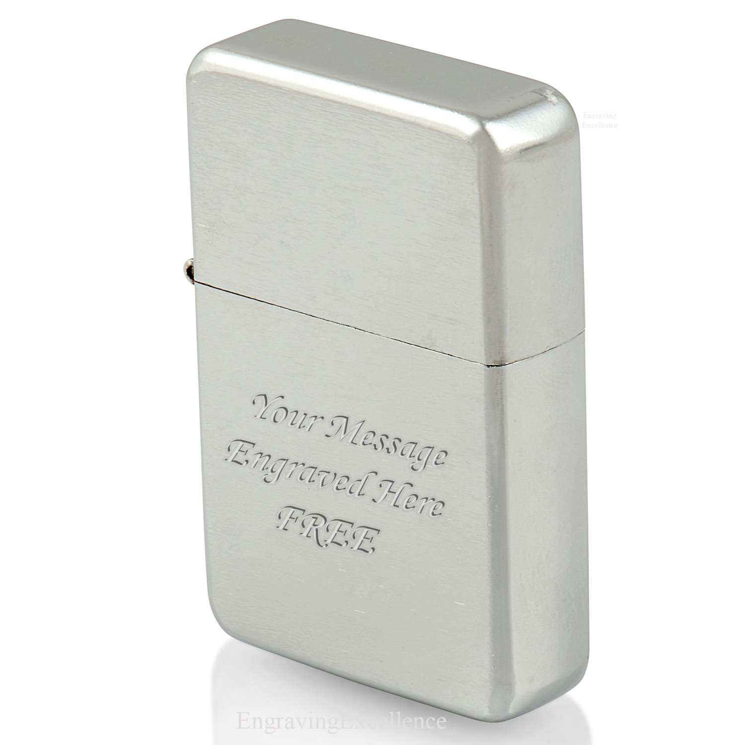 Brushed Effect, Silver Tone Lighter