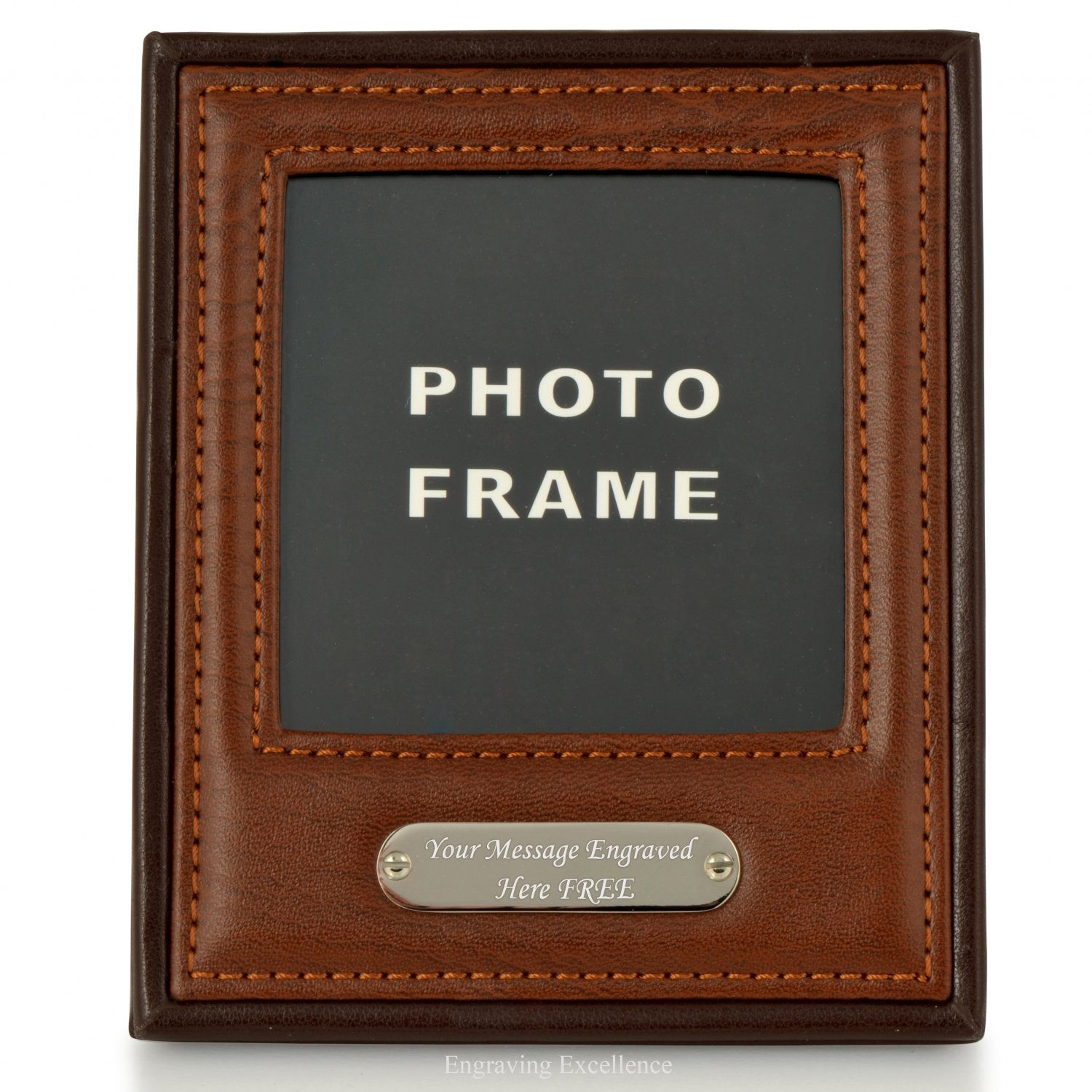 Leather Style Desk Photo Frame