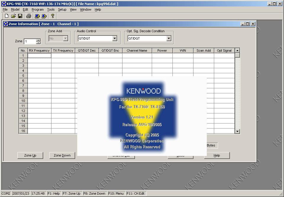 KENWOOD CPS CUSTOMER PROGRAMMING SOFTWARE