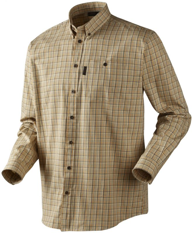 River L/S shirt - White Asparagus Check