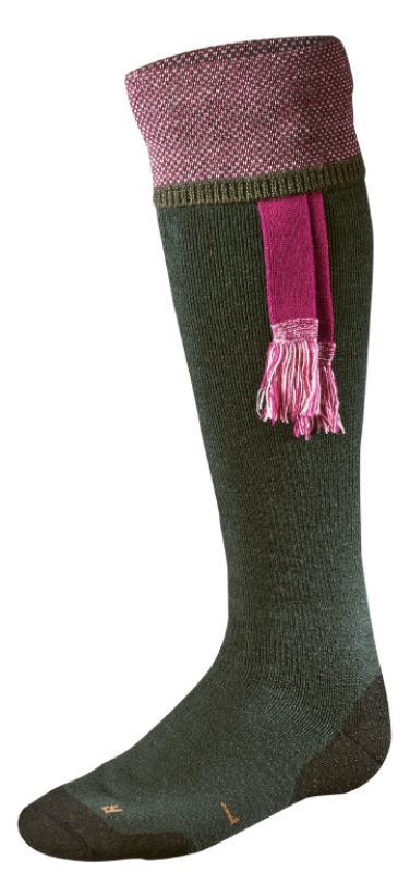 Sporting Estate sock - Bottle Green/Pink
