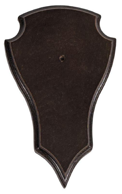 Buck trophy plate - Dark Wood - 20 X 12 Cm