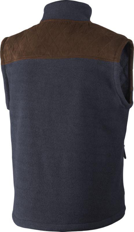 William II fleece waistcoat - Navy Blue