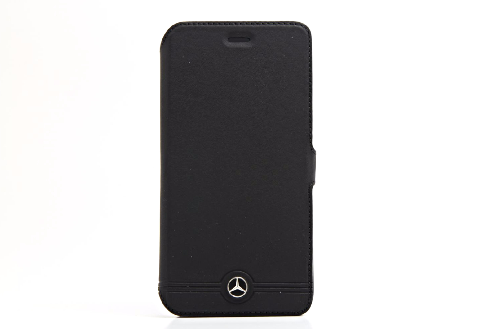 Mercedes benz pure line black leather iphone plus 6 folio for Mercedes benz wallet