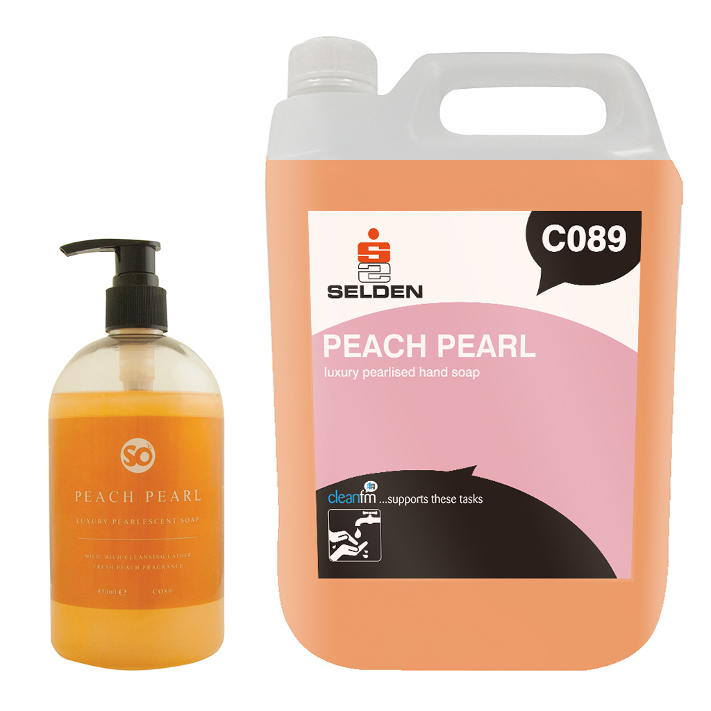 Selden | Peach Pearl | Luxury Pearlised Hand Soap | C089
