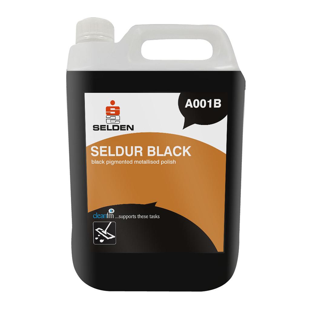 Selden | Seldur Black | Metallised Polish | 5 Litre | Case of 2 | A001B