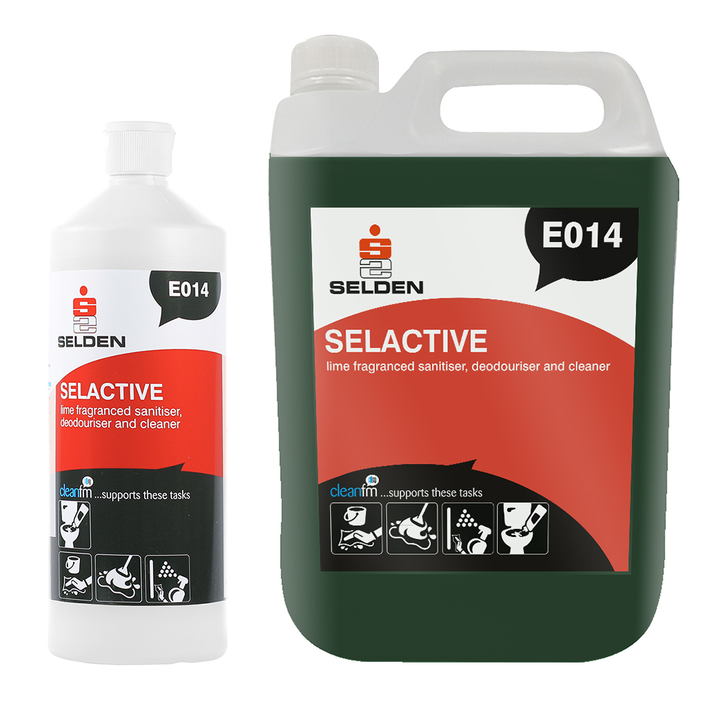 Selden | Selactive | Washroom Sanitiser, Deodoriser Cleaner | E014