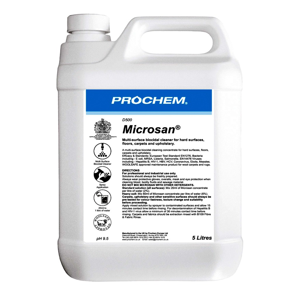 Prochem | Microsan | Multi-Surface Biocidal Cleaner | D500