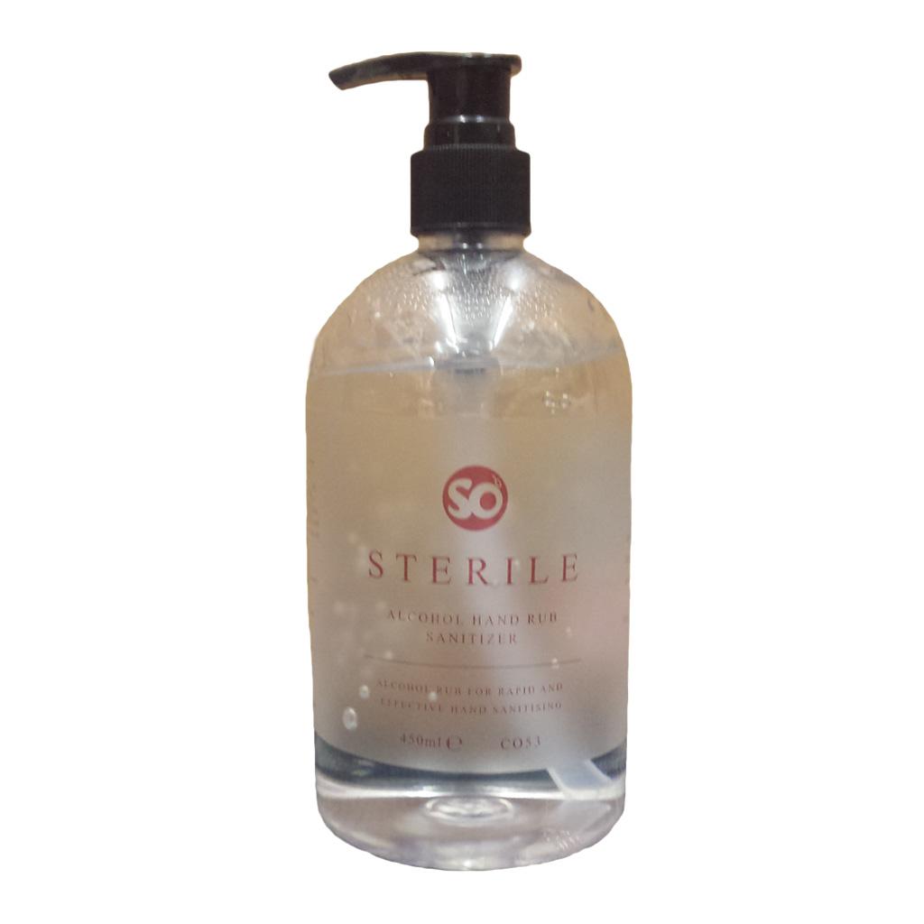 Selden | So Sterile | Alcohol Hand Rub Sanitiser | 450ml | C053