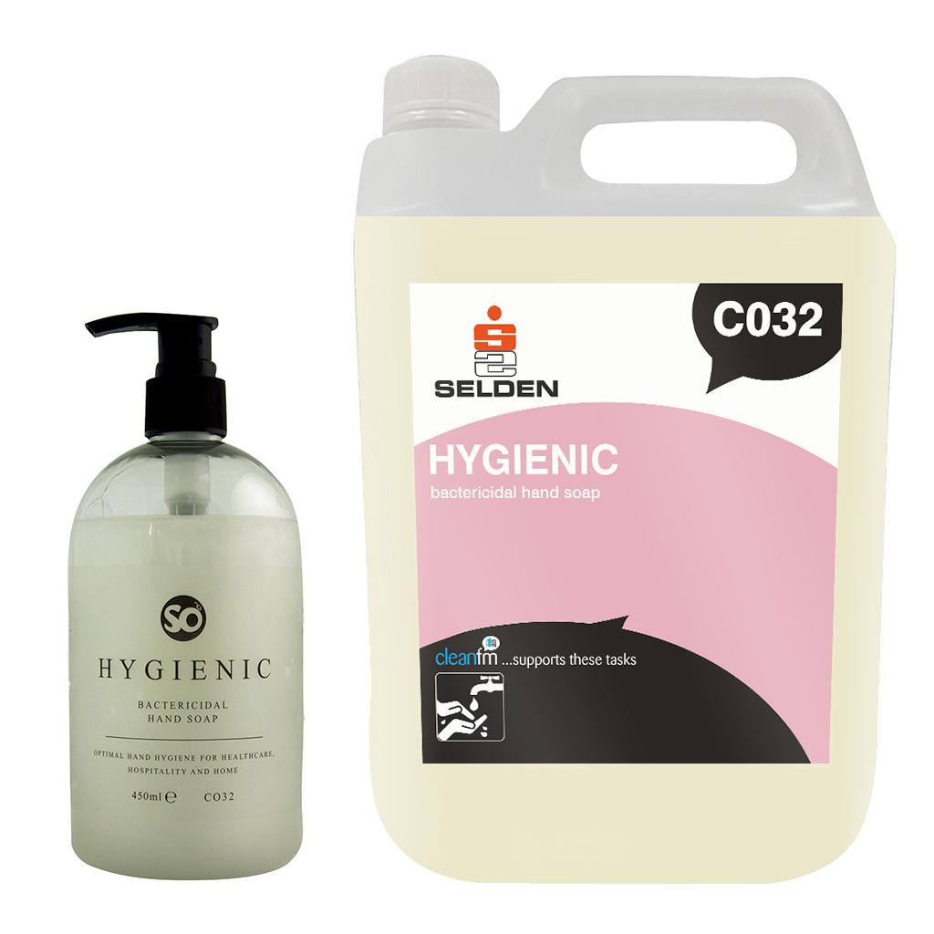 Selden | Hygienic | Bactericidal Hand Soap | 450ml | 5 Litre | C032