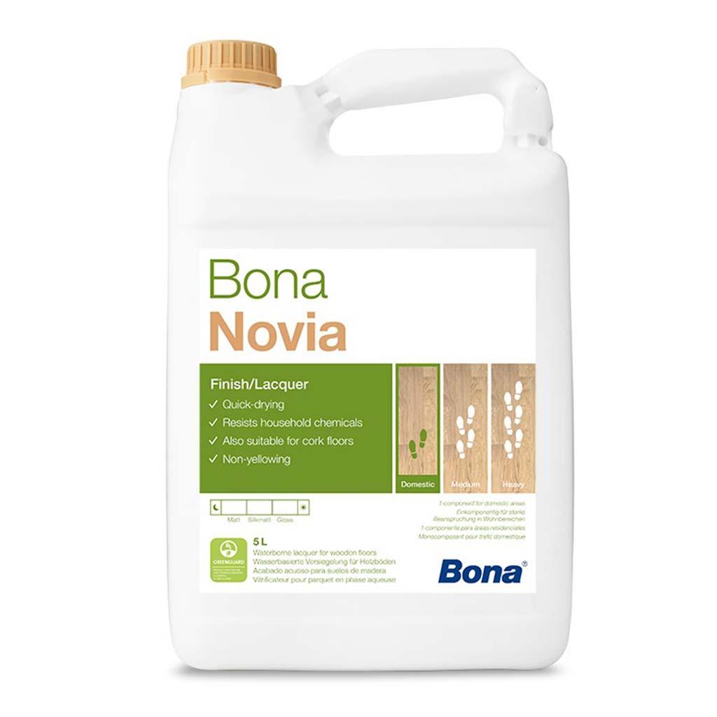 Bona Novia   Wood Floor Lacquer   5 Litre   Case of 3