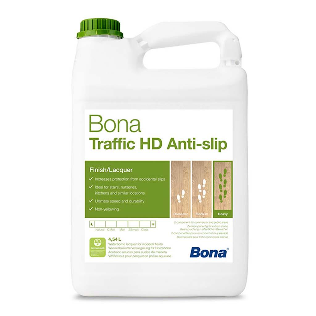 Bona Traffic HD Anti Slip | Wood Floor Lacquer | 4.95 Litre | Case of 3