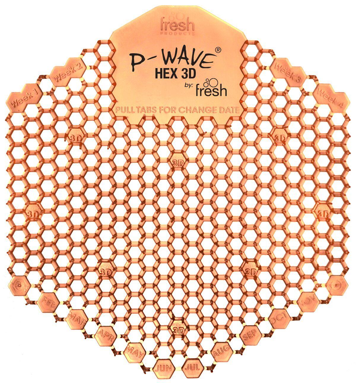 P-Wave   Hex 3D   Urinal Deodoriser   Mango   Pack of 2