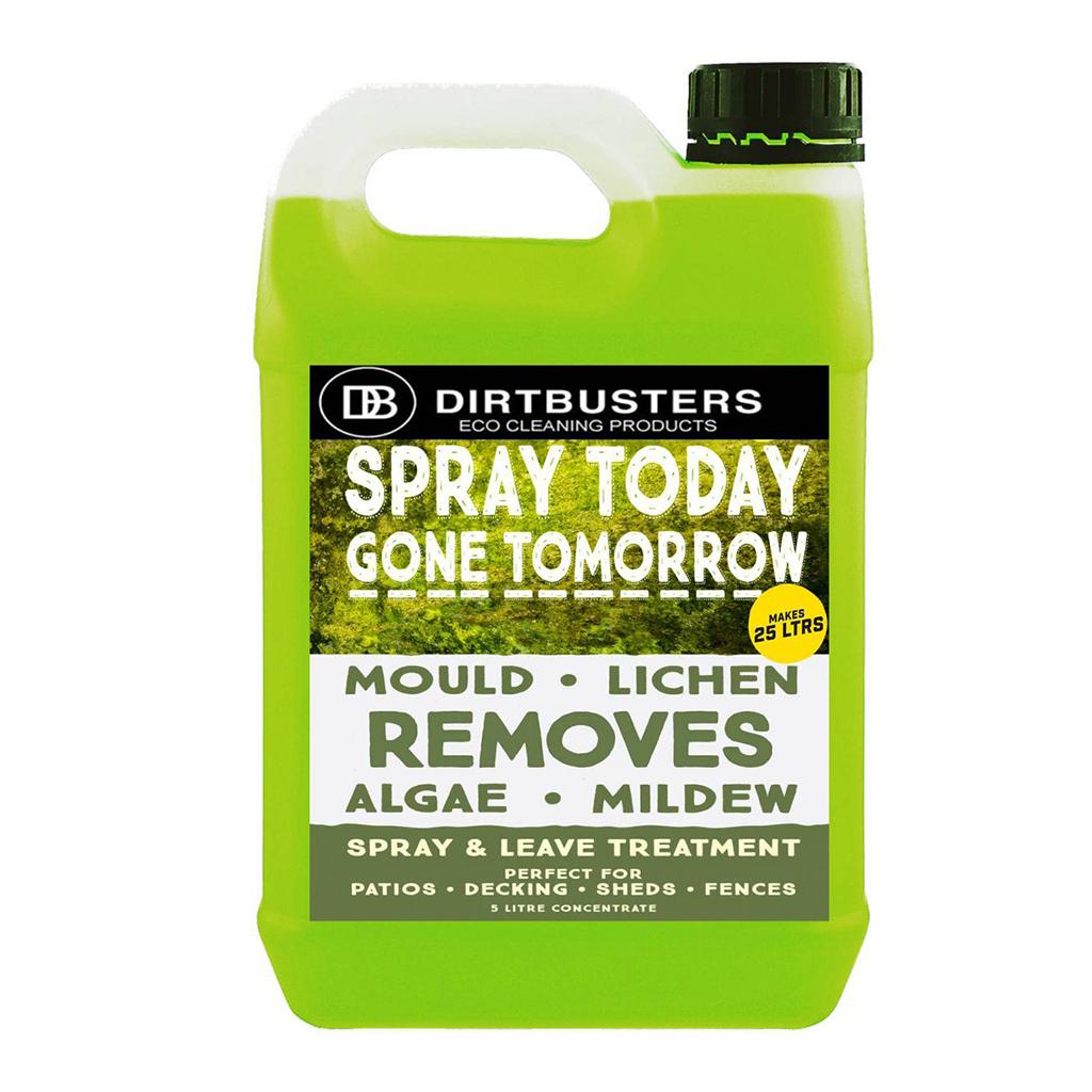 Dirtbusters | Spray Today Gone Tomorrow | Mould, Lichen, Algae & Mildew Remover | 5 Litre