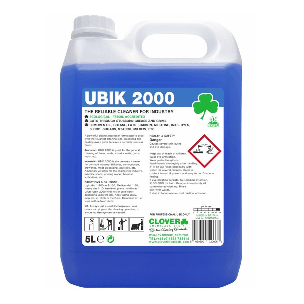 Clover | UBIK 2000 | Universal Cleaner Concentrate | 5 Litre | 301