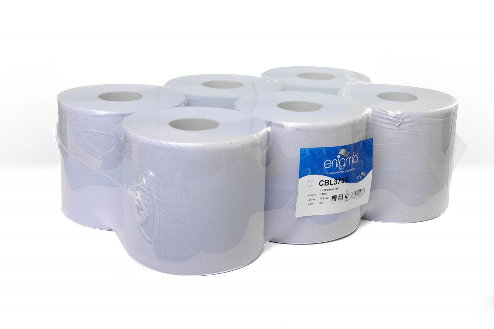 Pallet Deal   Enigma   Centrefeed Roll   2 Ply   Blue   6 Rolls    CBL375S   77 Packs