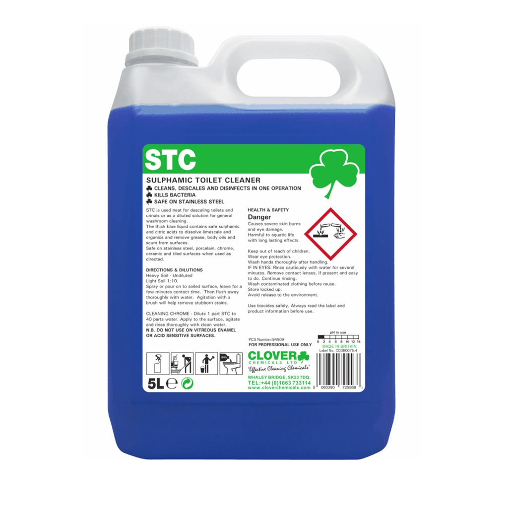 Clover | STC | Acidic Toilet & Washroom Cleaner | 510