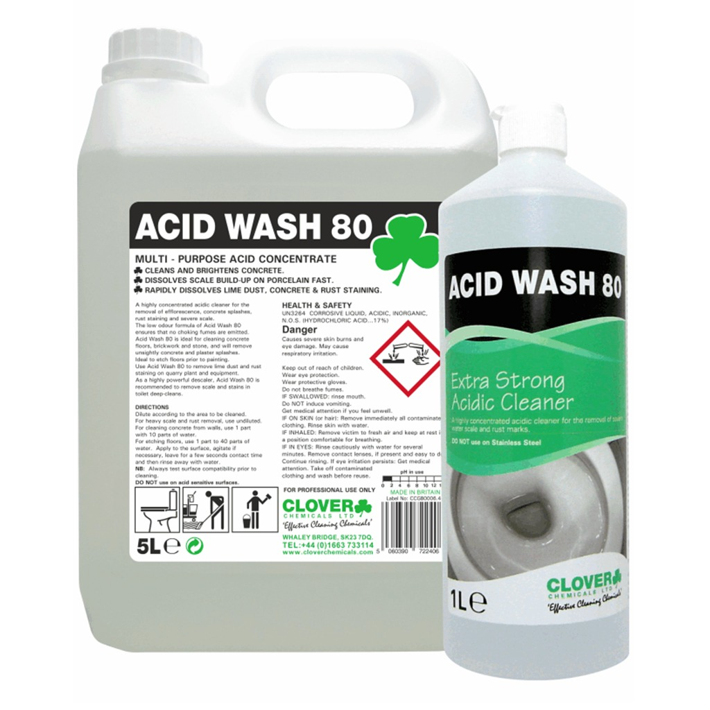 Clover | Acid Wash 80 | Extra Strong Acidic Cleaner | 502