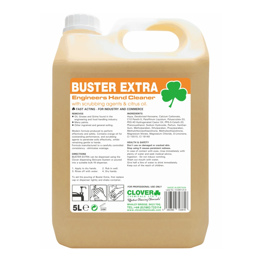 Clover | Buster Extra | Engineers Hand Cleaner | 5 Litre | 415