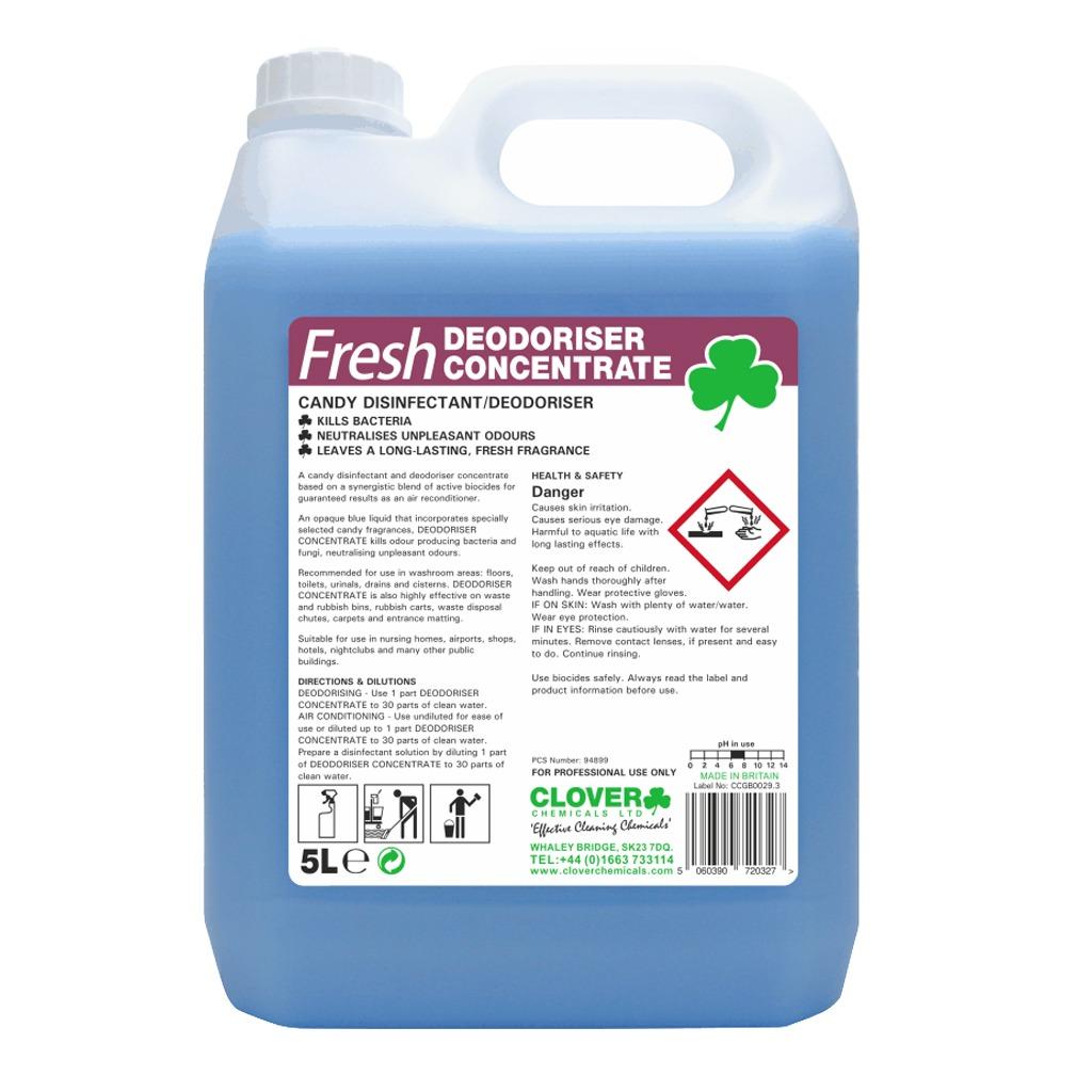 Clover   Fresh Deodoriser Concentrate   Candy Disinfectant Deodoriser   5 Litre   223