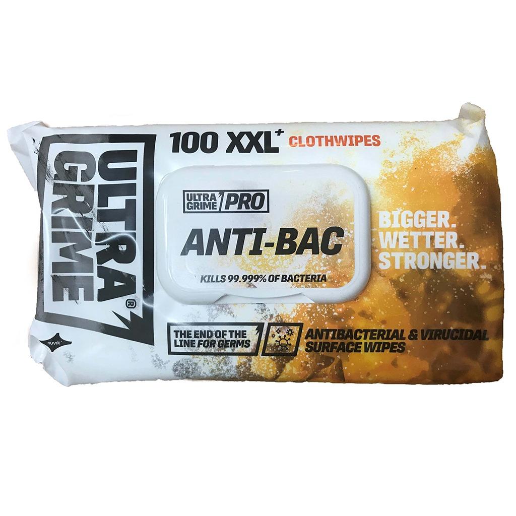 Uniwipe | UltraGrime Pro Anti-Bac Clothwipes | Pack of 100