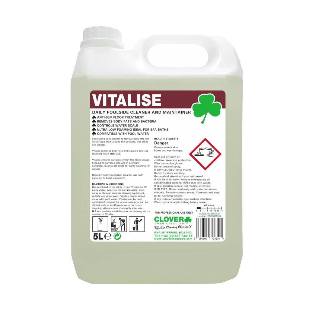Clover | Vitalise | Daily Poolside Cleaner/Maintainer | 5 Litre | 520