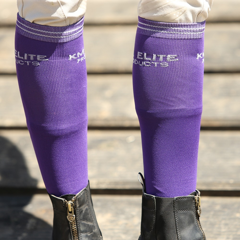 KM Elite Socks Purple/Silver