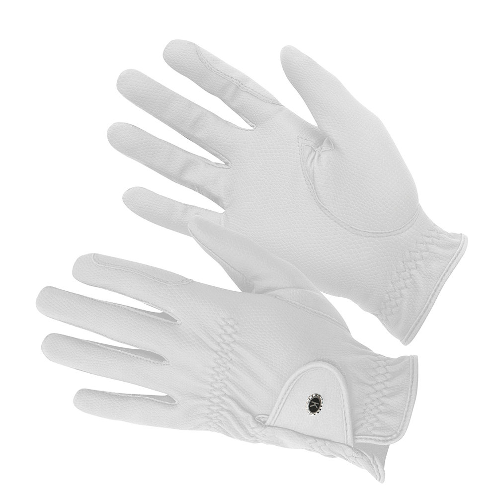 KM Elite ProGrip Gloves White