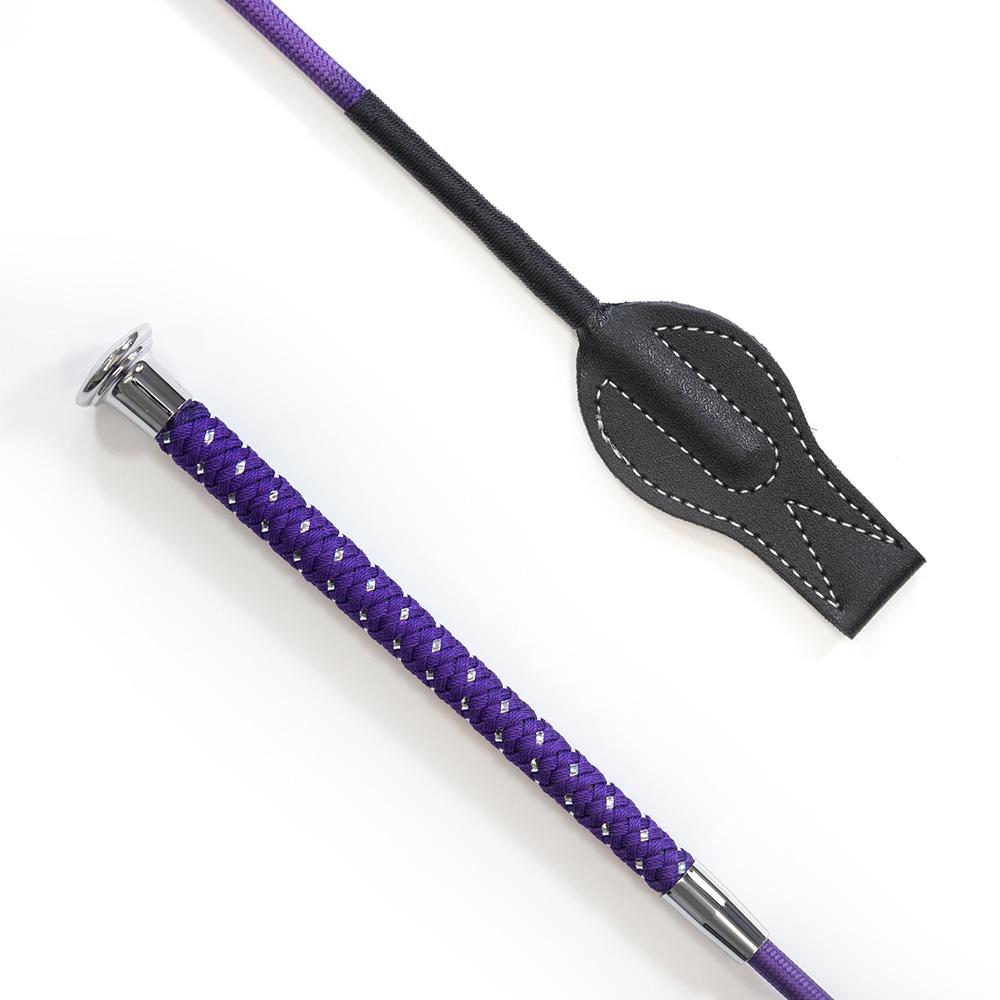 Silver Braided Junior Whip Purple