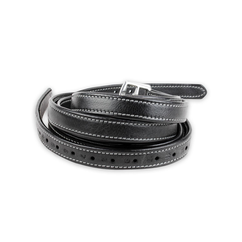 Luxury Stirrup Leathers Black