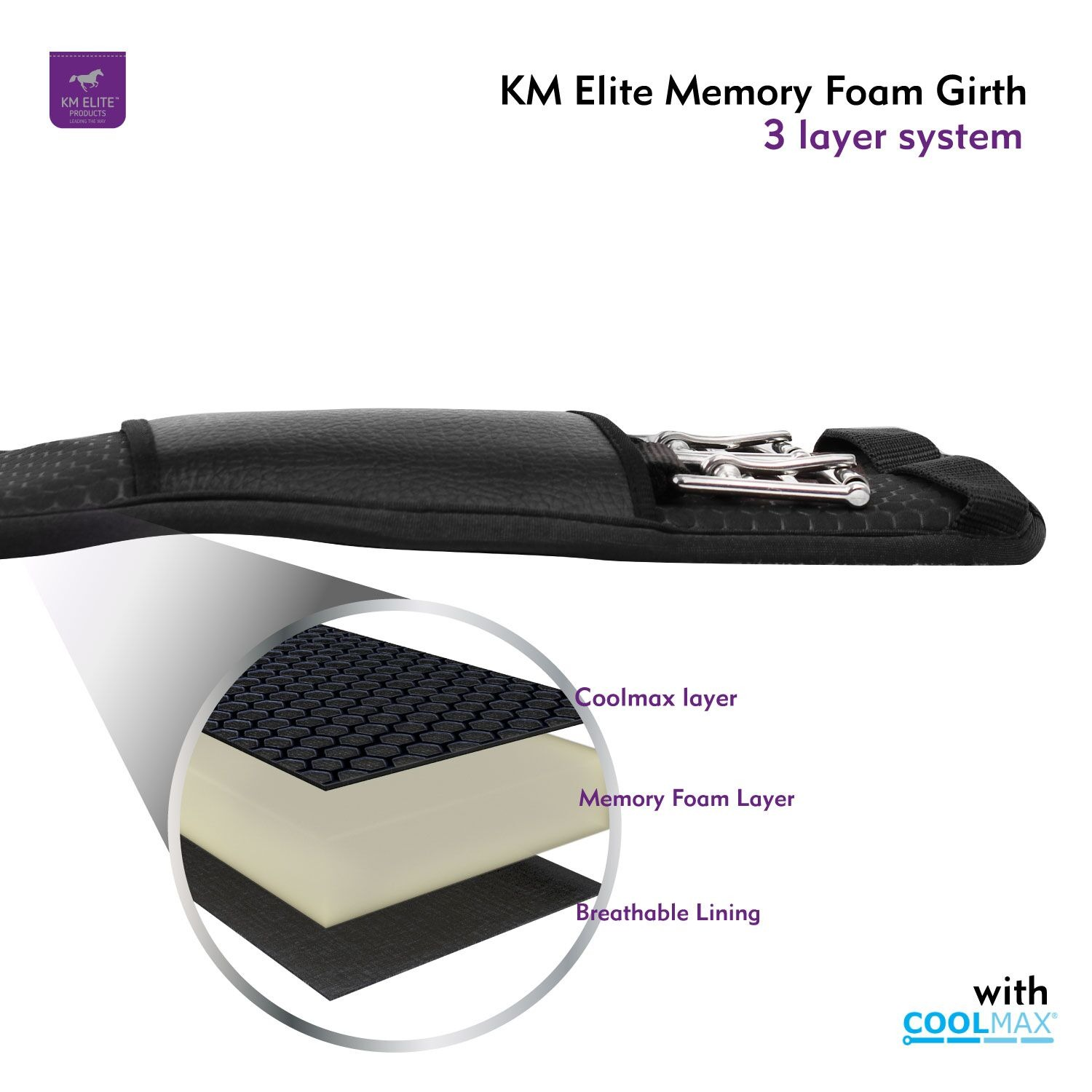 Memory Foam GP Girth Black