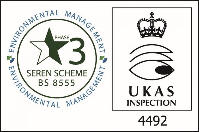 UKAS BS8555 Stage 3 Accreditation 2017 - 2018