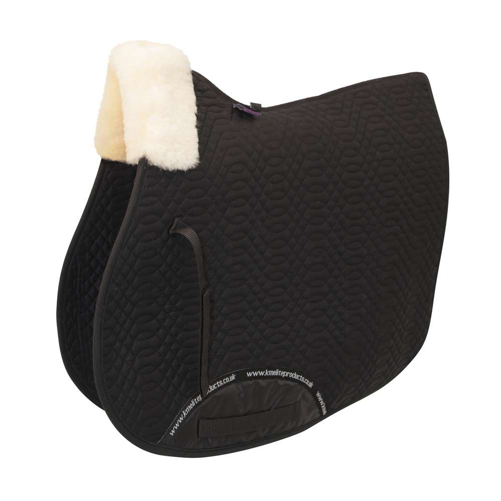 Front Rolled Dressage Square Edge Black