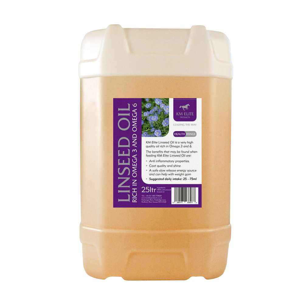KM Elite Flaxseed (Linseed) Oil 25ltr