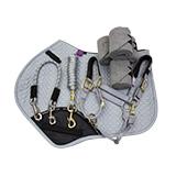 Mix & Match Platinum Grey Saddlecloth