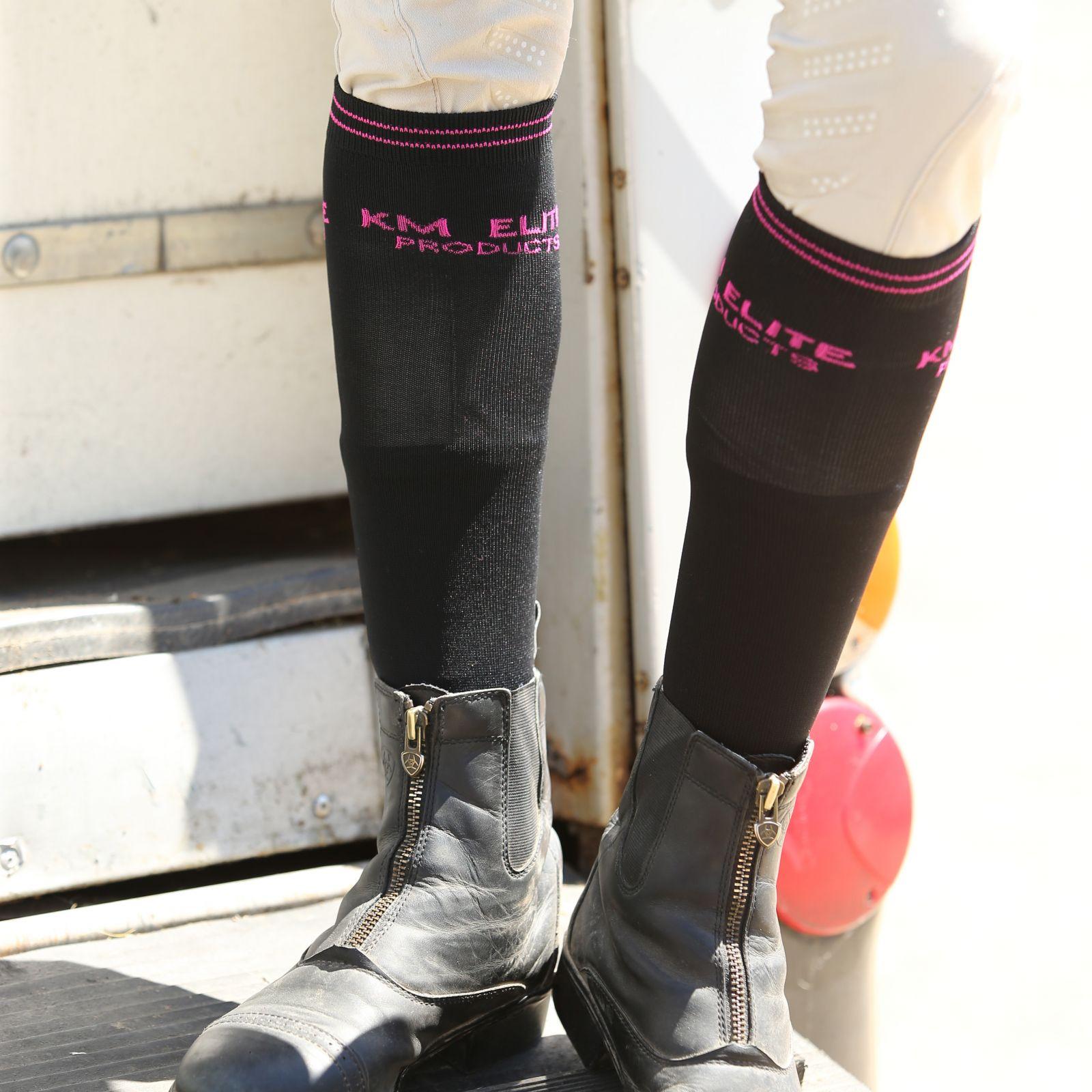KM Elite Socks Black/Hot Pink