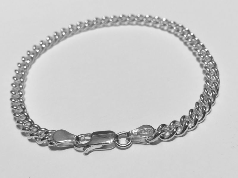 Silver Curb Chain Bracelets now in stock