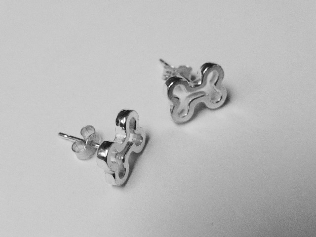 Bone Stud Earrings